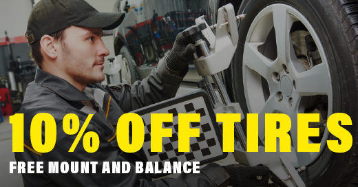 10% Off Tires Free Mount and Balance
