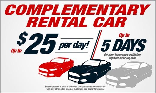 Collision Repair Rental Specials
